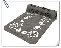 beatiful laser cut ecco-friendly wool felt table cloth
