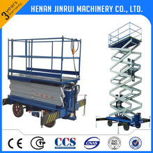 4 Wheels Hydraulic Cylinder 5000kg Car Lifter Platform Scissor Lift Table Manufacturer