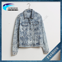 New design zipper denim jeans camouflage jackets for women