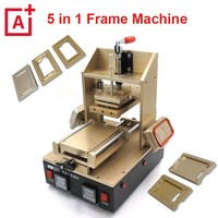 Full set Mobile phone LCD Screen Repair Kit 5 in 1 Separator Vacuum Frame Laminator lcd separator with all moulds