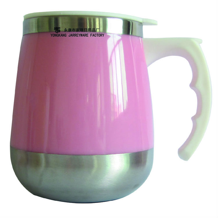 Eco-Friendly Stainless Steel plastic Beer Mug With Plastic Handle