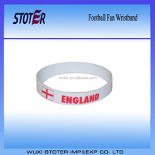 Wholesale cheap custom England fan silicone bracelets Custom design national football team Fans bracelet