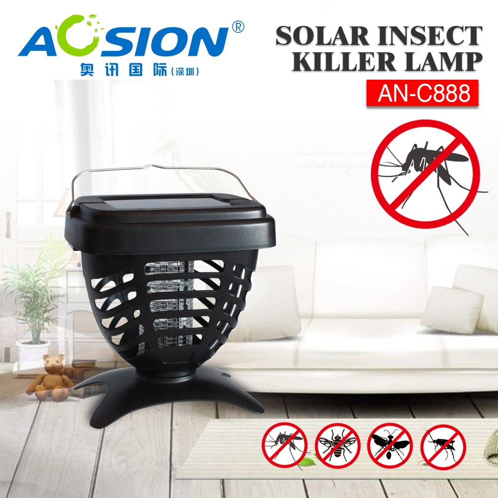 Electronic solar electric mosquito bug zapper