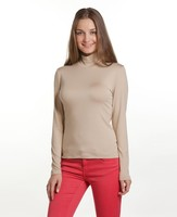 HALF TURTLENECK LONG-SLEEVE T-SHIRT