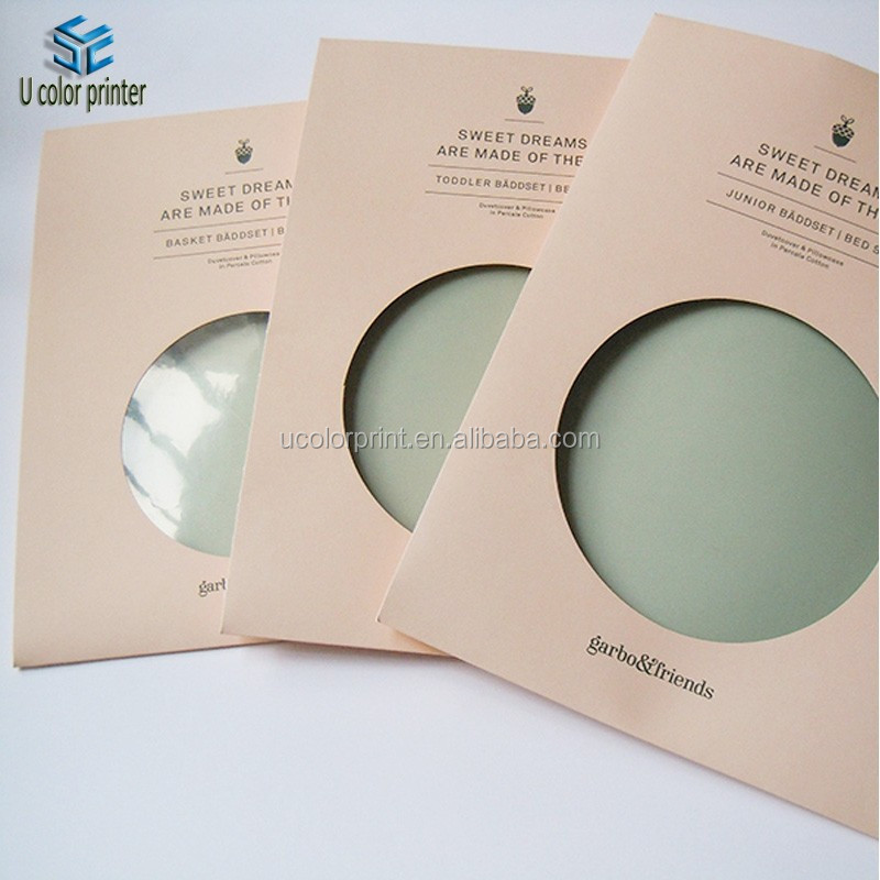 U color Customized envelop paper packaging