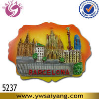 Souvenir Spain Night Barcelona 3d Resin Fridge Magnet Famous Tourist Promotional Custom Gift Wholesale