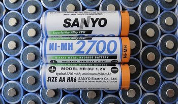 NI-MH 1.2V AA battery HR-3U 2700mAh for Sanyo