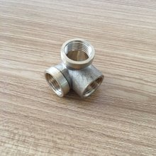 90 degree female elbow 3 way brass pipe fitting adapter