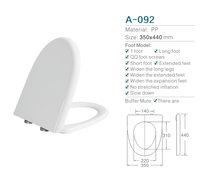 Professional Pure PP material U shape white toilet seat cover