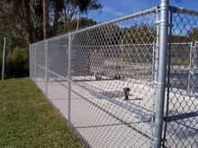 Hot-dip/PVC chain link fence for garden