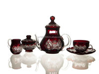 Crystal glass Tea set