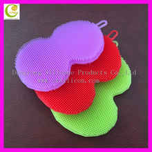 High quality dishes washing sponge scouring pad /magic cleaning soft silicone sponge for washing dishes