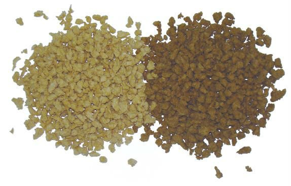 Textured or texturized vegetable protein (TVP), textured soy protein (TSP)