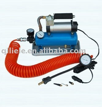 DC 12V auto air compressor with tank