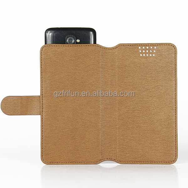 hot sale guangzhou manufacture FRIFUN pu leather book stand phone case ,customize portable classic universal cell cover