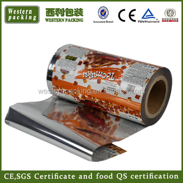 automatic machine packaging plastic roll stock film