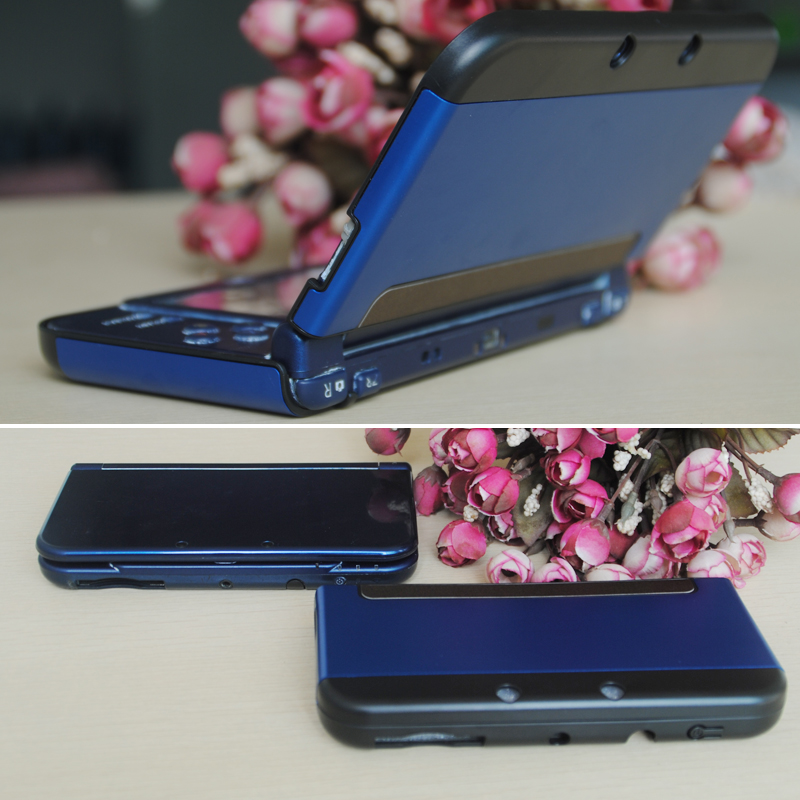 Hot selling Plastic + Aluminium Metal Cover for Nintendo New 3DS LL Protective Case