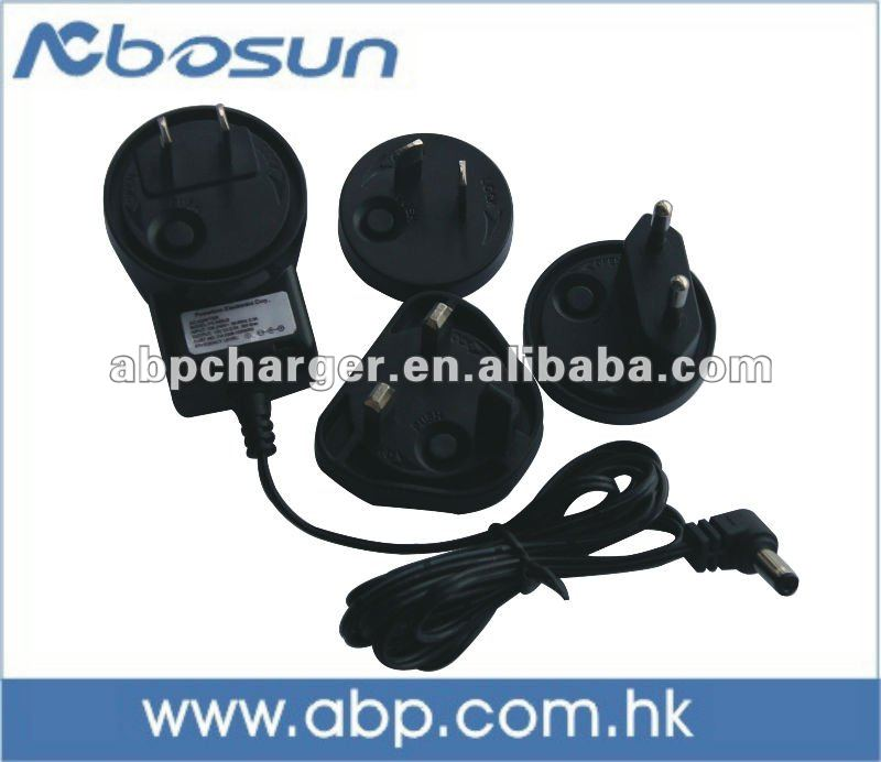 15V2A mobile travel charger/15W~24W AC-DC Single Output Interchangeable Plugtop AC Adapter