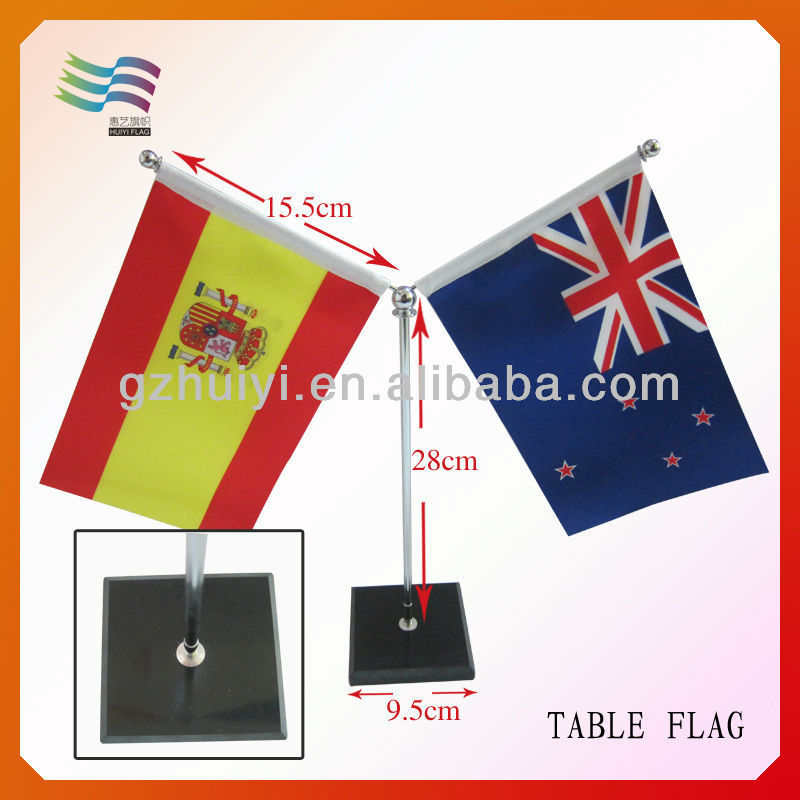 Negotiations Meeting Table Top National Flags