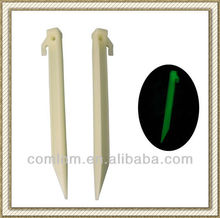 NEW 9 inch/22cm Glow in the dark/Luminous Plastic Tent Peg/Tent Stakes