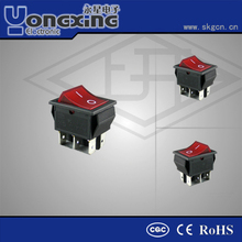 Hot sale 10A 250V AC T125 16A 125(250)V AC T85 double poles double throw momentary Waterproof Boat switch