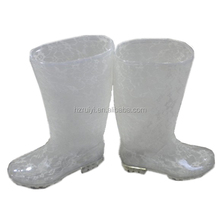 ladies transparent PVC rain boots,OEM good quality jelly boots,cheap one time injection plastic boots