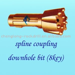 spline coupling downhole bit(8key)