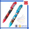 Promotional set packaging multi-color six colors ball pen