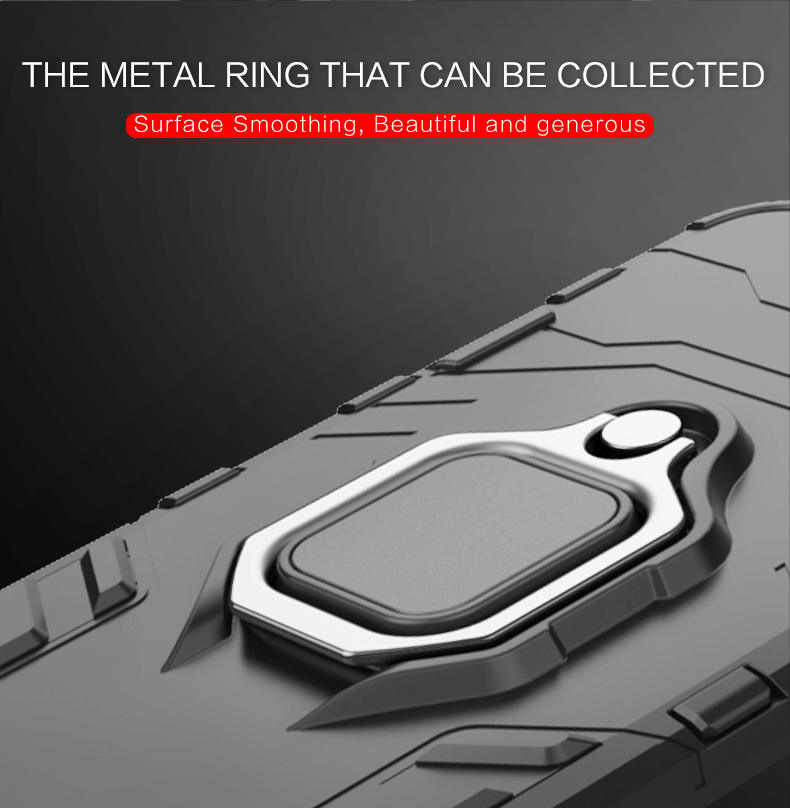 Magnetic 360 degree rotating metal finger ring holder tpu pc phone case cover for huawei mate 20 pro