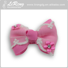 Fashion bow Fabric hair clips for babies