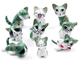 3CM Promotional small plastic pvc cat animal toy for food promotion