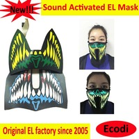 NEW!!!Top fashion el flashing mask/light up el mask/led face mask with wireless inverter