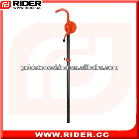 Single-acting barrel oil pump hand operated fuel pump rotary hand pump