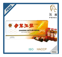 High quality food and beverage ginseng&anlter royal jelly