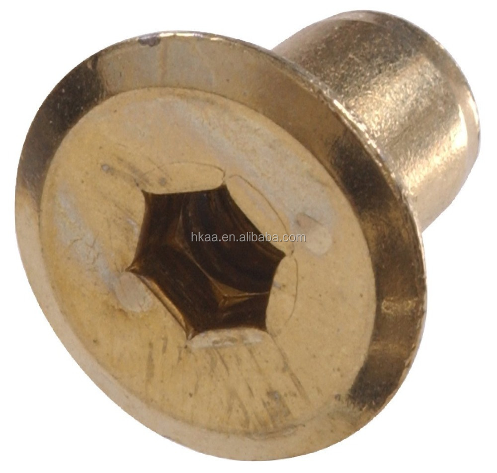 Brass machined joint connector hex drive nut, brass connector cap nut