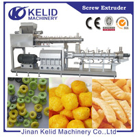 full automatic superior quality corn puffs snack making extruder machine