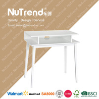 New type white wooden laptop desk with drawer