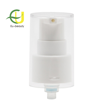 20/410 plastic cosmetics airless cream pump with MS over cap