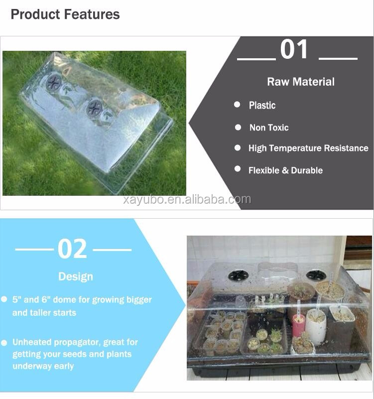 Seed Starter Germination Station Complete Kit Dome, plastic seed tray dome