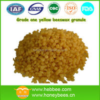 Refined Grade A yellow beeswax granules