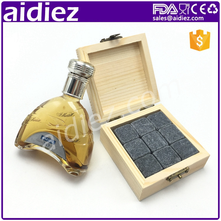 New Black Crazing Color Whisky Stone Ice Wine Stone For Drinking
