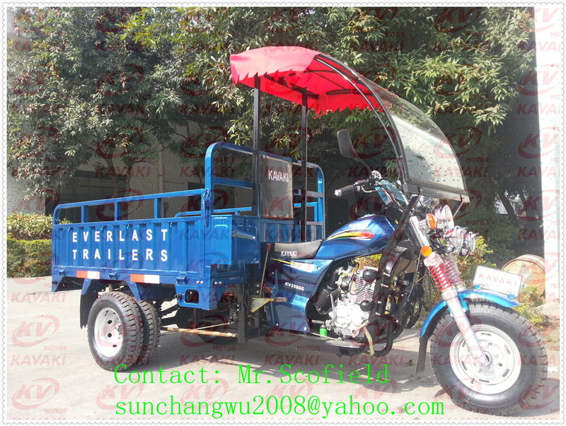KAVAKI MOTOR automatic discharge 3 wheel motorcycle/self dumping tricycle
