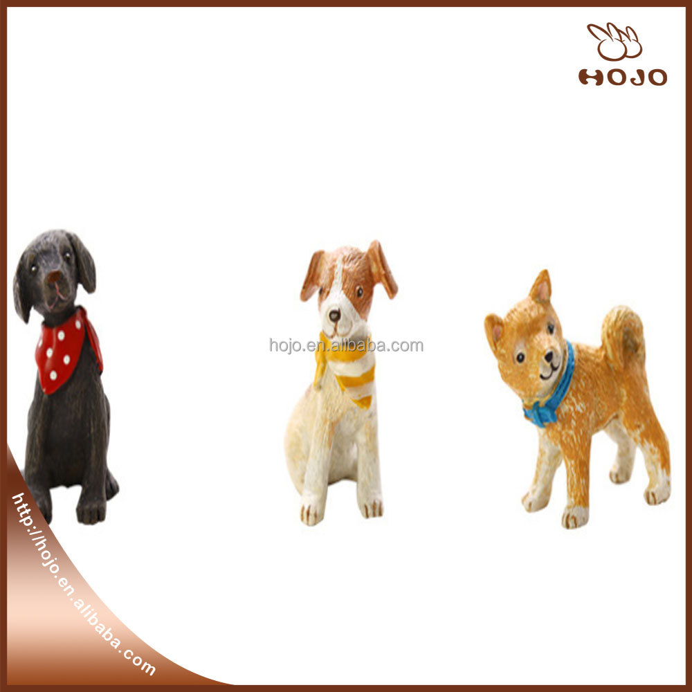Cute dog resin craft for home decoration