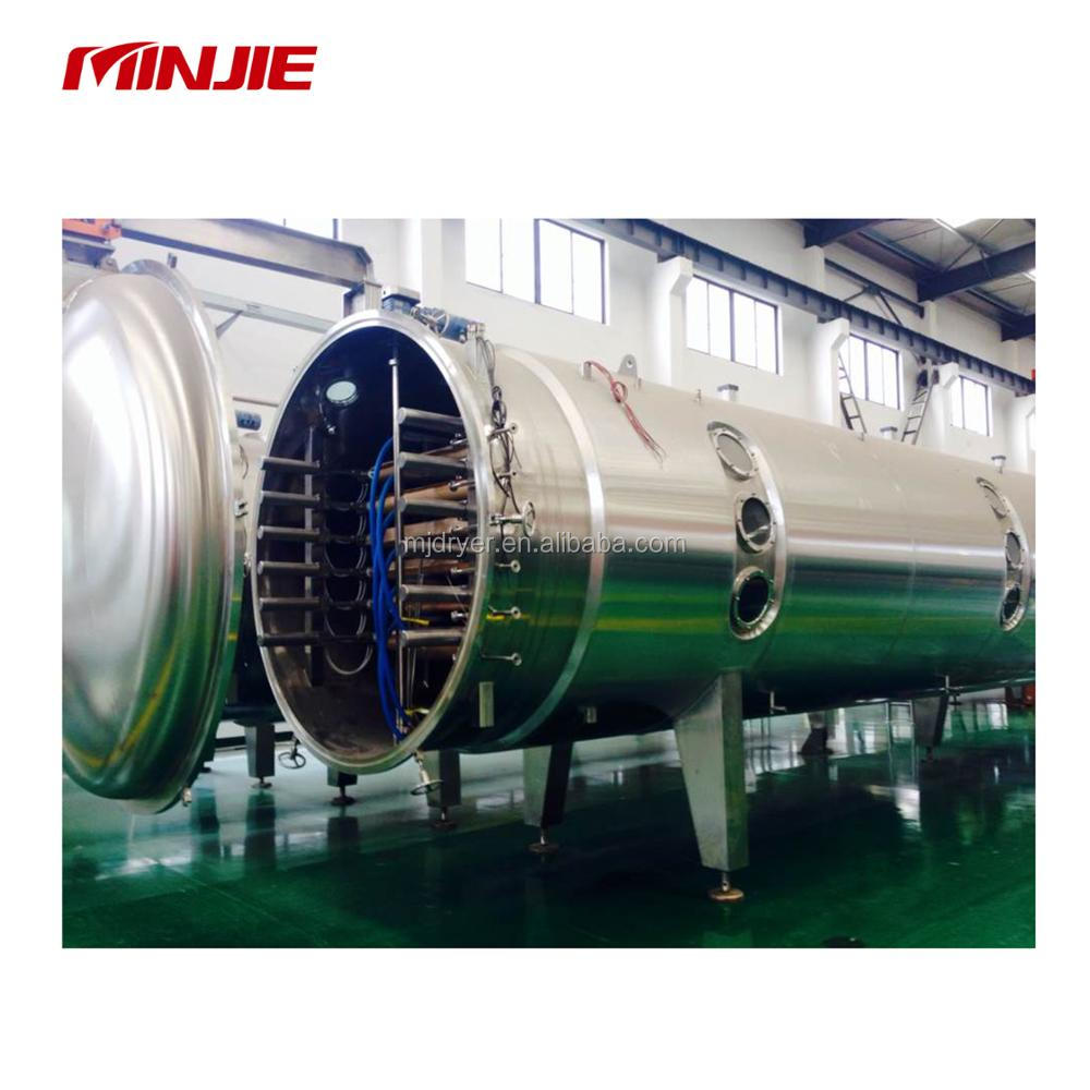 Continuous vacuum belt dryer for liquid egg white