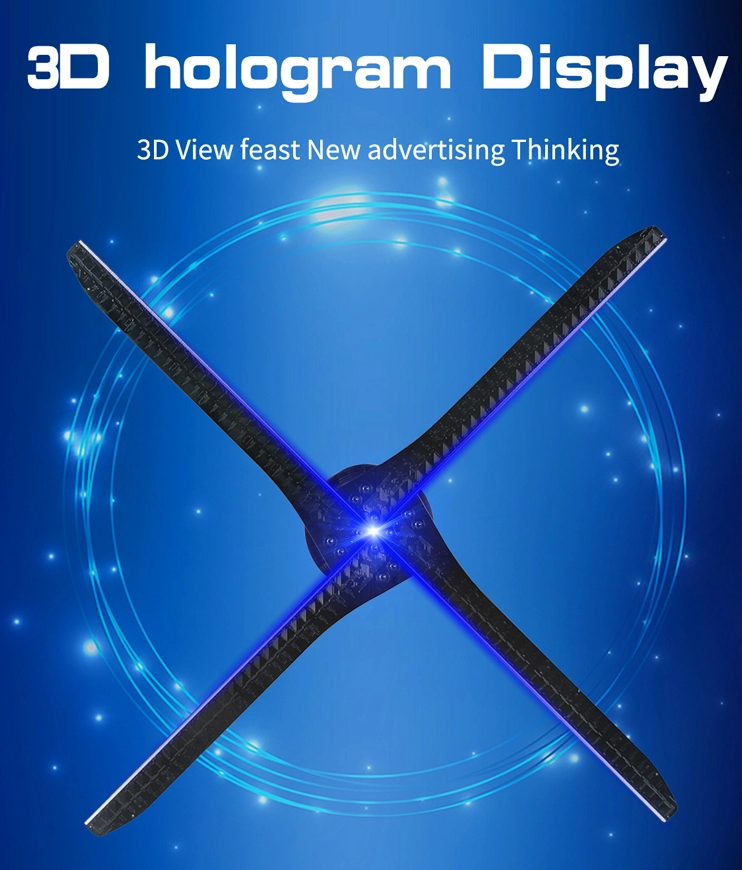 Promotion now!3d hologram WIFi/APP 3d hologram advertising fan 3D holographic A6W for advertising display
