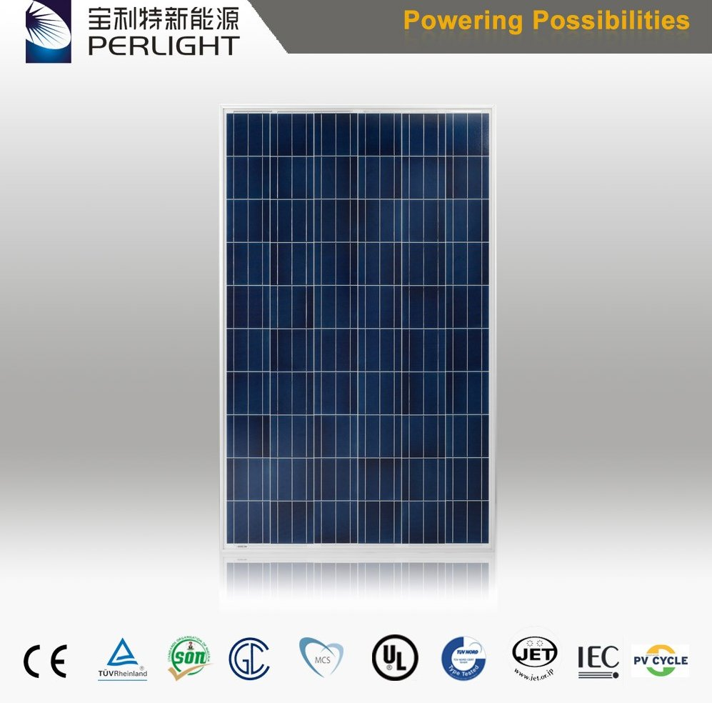260w Poly Solar Panel For Solar Roof System With MCS TUV CEC