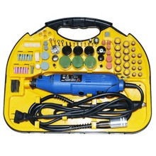 Goxawee Powl Tools Kit 211pcs flex shaft rotary tool grinding portable electric mini drill grinder set