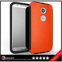 Keno Durable Full Body Protective Hybrid Case With Built-In Screen Protector for Motorola MOTO X2 Cell Phone Case