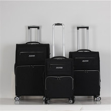 Light popular fabric durable luggage set trolley bags sets travel suitcase briefcase wheeled box
