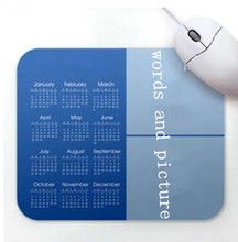 unique shaped photo insert mouse pad 2015 promotion calendar mouse pad